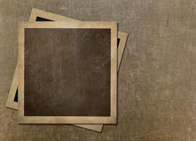 Old instant photo polaroid frames on grunge canvas Royalty Free Stock Image