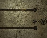 Old instrumental metal. Texture of an old instrumental metal Royalty Free Stock Photos