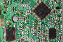 Old integrated circuit board Royalty Free Stock Image