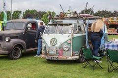 Old interesting VW camper van. Enfield, London, UK - May 29, 2016: old VW camper van on display at pagent Stock Images
