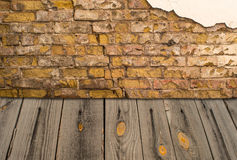 Old interior with brick wall Royalty Free Stock Photos