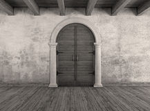 Old interior doorway Royalty Free Stock Photo