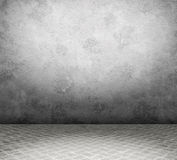 Old interior with metal floor Royalty Free Stock Photos