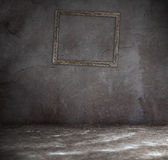 Old interior with picture frames Royalty Free Stock Photos
