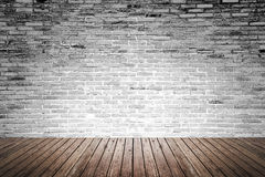 Free Old Interior Room With Brick Wall And Wood Floor Stock Photo - 55514560