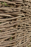Old interlaced wood background Royalty Free Stock Photo