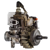 Old internal combustion engine, isolated on white background Royalty Free Stock Photography