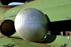 Old International pickup hubcap Stock Photos
