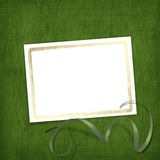Old invitation for holiday with ribbons Royalty Free Stock Photos
