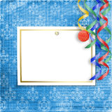 Old invitation for holiday with spheres Stock Images