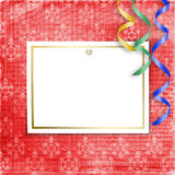 Old invitation for holiday with spheres Royalty Free Stock Images