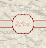 Old Invitation with Snowflakes Texture for Winter. Illustration Old Invitation with Snowflakes Texture for Winter Holidays - Vector royalty free illustration