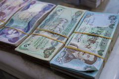 Old Iraqi currency Royalty Free Stock Images