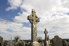 Old Irish ancient Celtic graveyard Stock Images