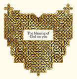 Old Irish Blessing. Blessing with antique style gold Celtic knot design Royalty Free Stock Photos