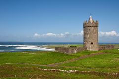 Old irish castle in the west of ireland Stock Image