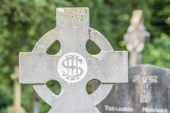 Old Irish cemetery cross Stock Image