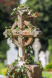 Old Irish cemetery cross Royalty Free Stock Photography