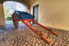 Old Irish cottage cart. In the gate Stock Image