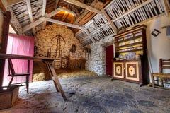 Old Irish cottage house. Interior Royalty Free Stock Image