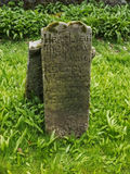 The old irish grave stone Stock Image