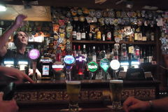 Old Irish Pub. A pub, or public house, is an establishment licensed to sell alcoholic drinks, which traditionally include beer, ale and other brewed alcoholic Royalty Free Stock Photo