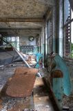 Old iron in abandoned laundry Royalty Free Stock Photo