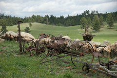 Old iron agricultural machinery Stock Images