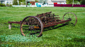 Old iron agriculture plow Royalty Free Stock Image
