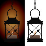 Old iron antique lantern lamp Stock Photos