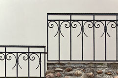 Old iron banister Royalty Free Stock Image