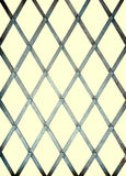 Old iron bars for window, prison - isolated Stock Photo