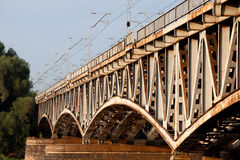Old Iron Bridge Stock Photography