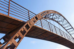 The old iron bridge. Against the sky Royalty Free Stock Image