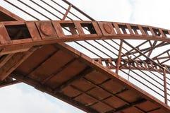 The old iron bridge. Against the sky Royalty Free Stock Photos