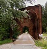 An old iron bridge of abandoned railway near Krajnska Gora Stock Photography