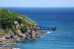 Old iron bridge at the atlantic ocean coast Stock Photography