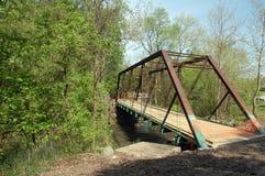 Old iron bridge in countryside Stock Photo