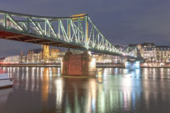 Old iron bridge in Frankfurt Main, Germany Royalty Free Stock Image