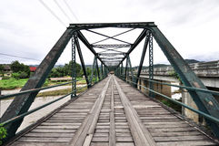 The old iron bridge Royalty Free Stock Photos