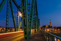Old iron bridge at night Royalty Free Stock Photos