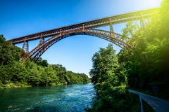 Old iron bridge Royalty Free Stock Photography