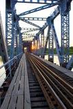 The old iron bridge. Royalty Free Stock Image