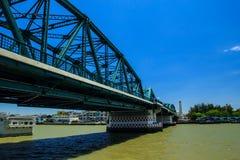 Old iron bridge thailand Royalty Free Stock Photo
