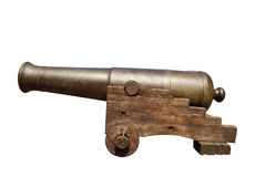 Old iron cannon Royalty Free Stock Photos