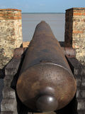 Old iron cannon Royalty Free Stock Photo