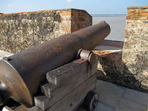 Old iron cannon Stock Photos