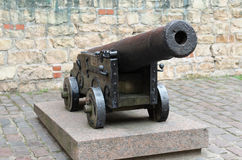 Old iron cannon. Riga, Latvia Stock Images