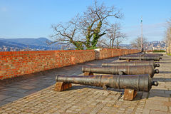 Old iron cannon on Buda hill in Budapest, Hungary Royalty Free Stock Photo