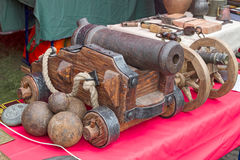 Old iron cannon Royalty Free Stock Image